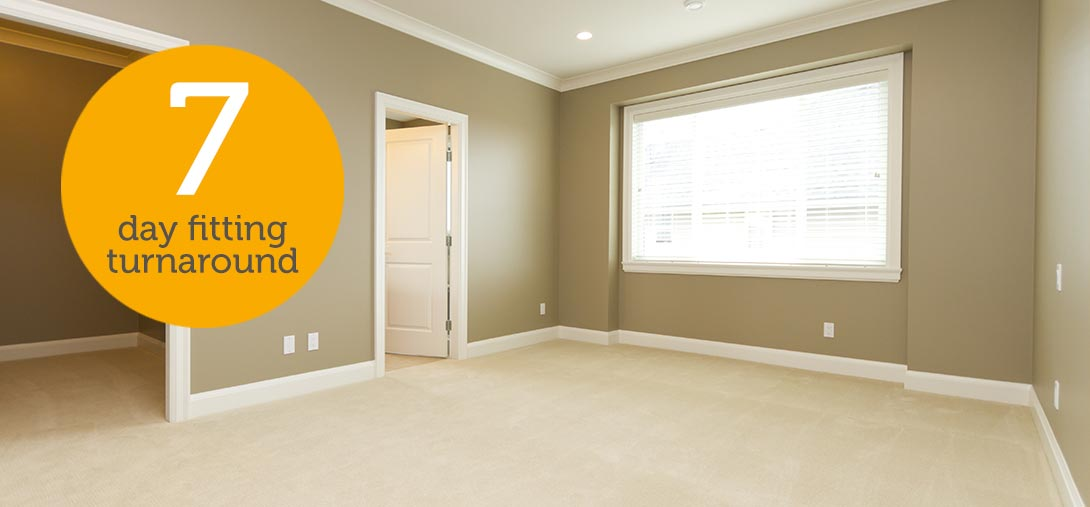 7 day carpet fitting for landlords